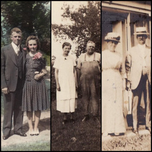 Three generations of Moores: John N. Moore II and Jeannette (Streeter), John N. Moore and Charlotte (Lottie) Marble, and Frank C. and Della (Gale). Photo courtesy of the Moore family.