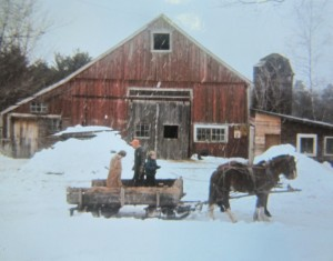 John N. Moore II during sugaring season. Photo courtesy of the Moore family.