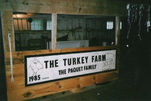 The Paquets, who bought the Turkey Farm in 1985, carried on the name but shifted to raising sheep. Photo courtesy of Linda Paquet