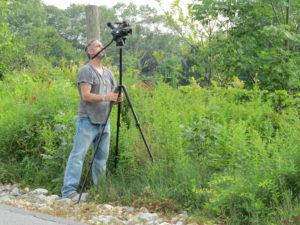 Videographer Shane Brown at work last summer.