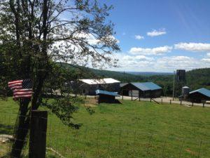barns on hillside